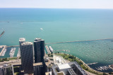 Lake Michigan, Dusable Harbor, North Harbor, Harbor Point and Parkshore apartments, Chicago view from the Aon Center