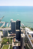 Lake Michigan, Chicago view from the Aon Center