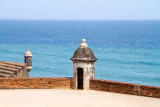 City walls (La Muralla) and tower, Atlantic Ocean, Old San Juan