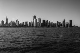 Skyline, Chicago, IL, Black and White
