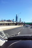 I-290 driving into Chicago, IL