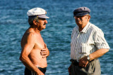 Men, Santorini, Greece