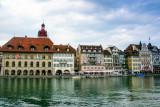 Buidlings along the Reuss River, Lucerne, Switzerland
