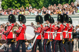 Changing of the guards, Buckingham palace, London, England