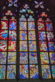 St. Vitus Cathedral, Stained Glass Windows, Prague, Czech Republic