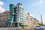 Dancing House,  Vlado Milunić in cooperation with Canadian-American architect Frank Gehry, Prague, Czech Republic