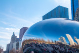 Cloud Gate, Chicago, St. Patrick's Day, 2015