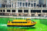 Chicago watertaxi, St. Patrick's Day, 2015