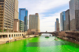 Loews Building, the newest building, Chicago, St. Patrick's Day, 2015