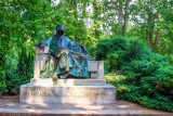 The statue of Anonymus, Budapest City Park, Hungary