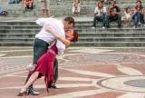 Dancers in front of St. Stephen's Basilica, Budapest, Hungary