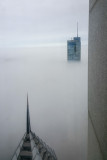 Chicago in the clouds, view from the Aon Center