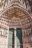Door, La cathedrale Notre-Dame de Strasbourg, France