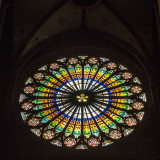 Stained Glass window, La cathedrale Notre-Dame de Strasbourg, France