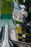 Flying ski jumper, Bergisel Ski Jump, Innsbruck, Austria
