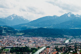 River Inn, View of Innsbruck, Kreuzspitze, Austria