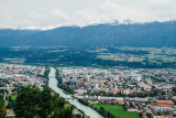 River Inn, View of Innsbruck, Hungerburg  Funicular, Austria