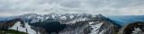 Panorama, Nordkette range, Alps, Innsbruck, Austria