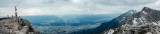 Panorama, View of Innsbruck from Hafelekarspitze, mountain peak, Austria
