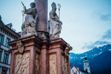 Annasaule, art, fountain, Innsbruck, Austria
