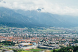 View of Innsbruck, from Bergisel Ski Jump, Austria