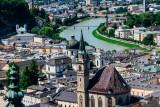 View of Salzburg and Salzach Castle, from Salzburg castle, Austria