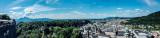 Panorama, View of Salzburg, from Salzburg castle, Austria