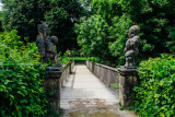 Mirabellgarten, Dwarf Gnome Park, Zwergelgarten, Der Zwerg mit dem Ball, Der Zwerg mit dem Stachelaermel, Salzburg, Austria