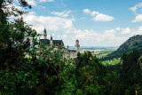 Hiding Neuschwanstein Castle, view from Marienbrucke,  Bavaria, Germany
