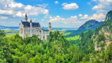 HDR, Neuschwanstein Castle, view from Marienbrucke,  Bavaria, Germany
