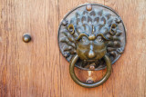 Door knocker, Nuremberg, Bavaria, Germany