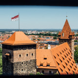 Heidenturm (Heathen Tower) and Luginsland Tower, Nuremberg Castle, Nuremberg, Bavaria, Germany