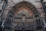 Door, St. Lorenz, Nuremberg, Bavaria, Germany
