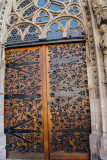 Door, Frauenkirche, Nuremberg, Bavaria, Germany