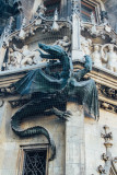 Dragon, The New Town Hall, Marienplatz, Munich, Bavaria, Germany