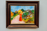 Woman in Red Dress (Street in Asgardstrand), Edvard Munch, 1902, Neue Pinakothek, Munich, Bavaria, Germany