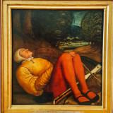 Schlafender grabwachter mit ambrust, Berhard Strigel, 1460-1528, Alte Pinakothek, Munich, Bavaria, Germany