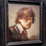 Rembrandt Self Portrait, Alte Pinakothek, Munich, Bavaria, Germany