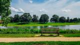 Bench, Chicago Botanic Garden, Chicago, Il