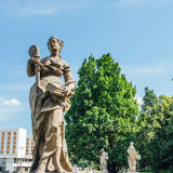 Admiring beauty, sculpture, Warsaw, Poland
