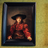 The Girl in a Picture Frame, 1641, Rembrandt Harmenszoon van Rijn, The Royal Palace, Warsaw