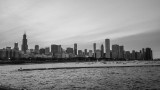 Chicago B&W, View from Shedd Aquarium