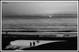 Surf beach sunset Sennon B and W.jpg