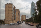 Baku Flame tower - built by the time of the Eusovison song contest