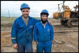 Oilworkers at SOCAR - State Oil Company of Azerbaijan Republic