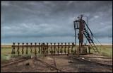 Old oilfield remainings near the beach of the Caspian Sean