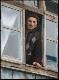 Looking out from Xinaliq Teahouse
