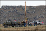 Geo engineering company drilling in the field at Gobustan