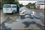 Azerbaijan roads are not always in perfect condition….