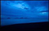 Vestmannaeyar at dusk
